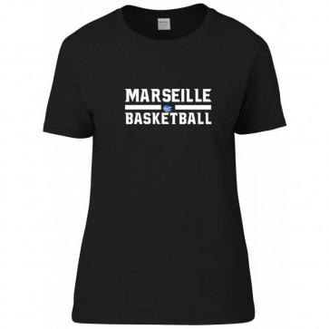 T-shirt femme Noir Marseille Basketball