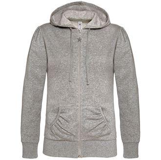 77355940dbfc2 Sweat zip uni capuche femme - Les sweats et pulls - Textiles
