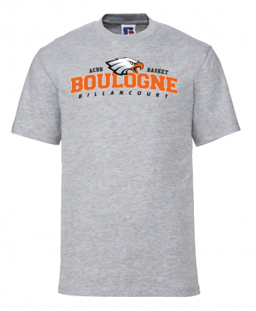 T-shirt Gris clair Unisexe logo face ACBB Basket