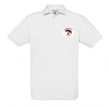 Polo uni Blanc logo coeur UST BASKET