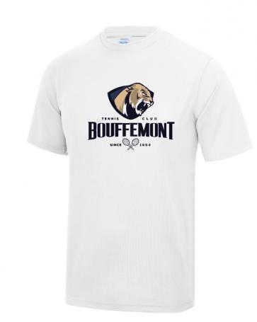 T-shirt Blanc Polyester Bouffemont Tennis Club
