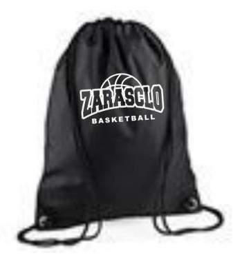 Sac Ficelle Noir Zarasclo Basket