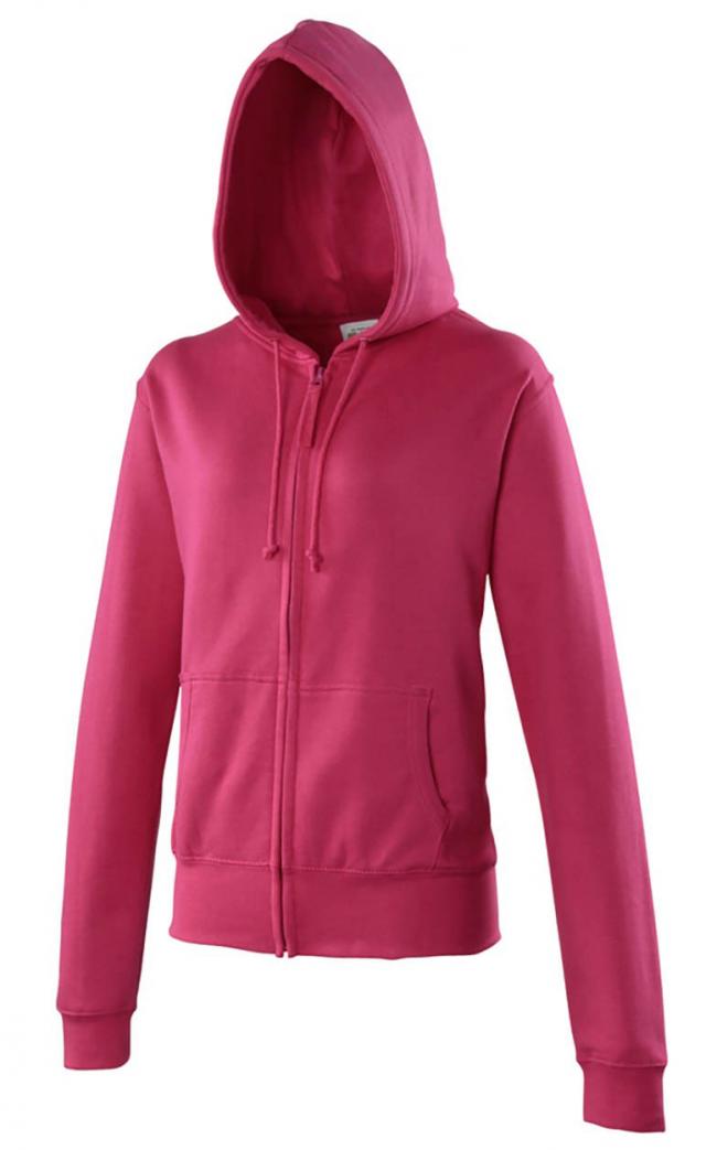 025e8ab369 Sweat zip uni capuche femme - Les sweats et pulls - Textiles