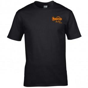 T-shirt coton unisexe noir Moneteau