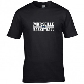 T-shirt Noir Marseille Basketball