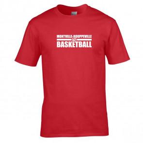 T-shirt Rouge Montville-Houpeville Basket