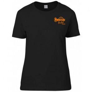 T-shirt coton femme noir Moneteau