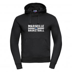 Sweat Russel Noir Marseille Basketball