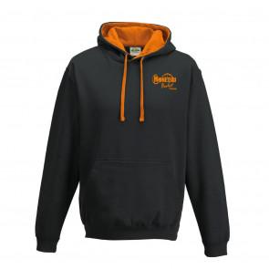 Sweat contrasté noir orange Moneteau