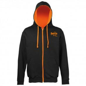 Veste contrasté noir orange Moneteau