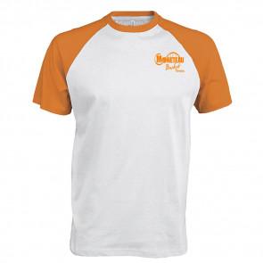 T-shirt contrasté blanc orange Monteneau