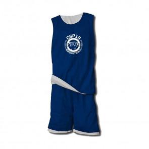 Ensemble Reversible Navy Blanc CSP19 Basketball
