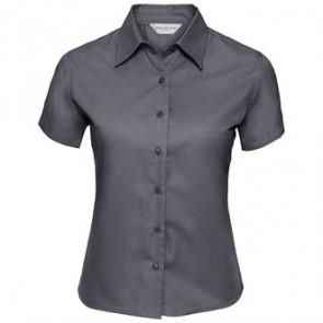 Chemise en sergé classique à manches courtes Femme