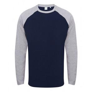 T-shirt manches longues contrasté Skinnifit Unisexe