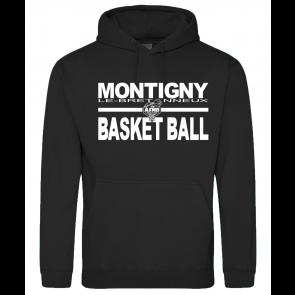 Sweat Capuche noir Uni Montigny Basket