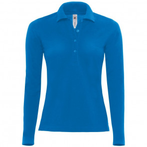 Polo manches longues coupe femme