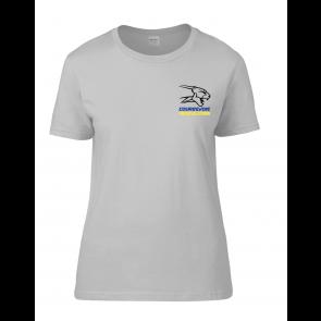 T-shirt Gris clair femme Courbevoie Musculation