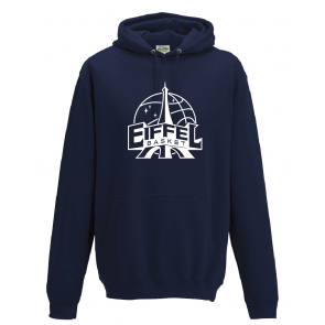 Sweat Russel unisexe navy Eiffel Basket