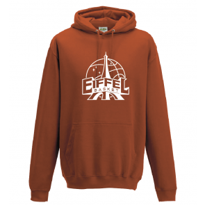Sweat Russel unisexe rouge Eiffel Basket