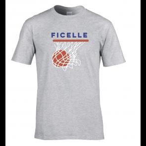 T-shirt Gris Ficelle