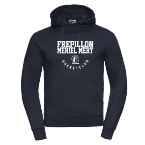 Sweat Russel navy marquage blanc Frepillon Basket