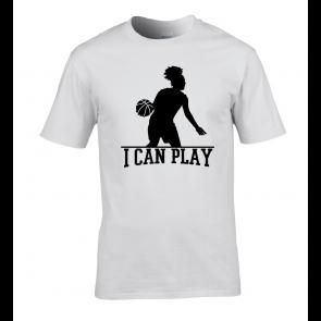 T-shirt Blanc I Can Play