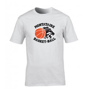 T-shirt Blanc Montataire Basket