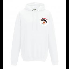 Sweat capuche Blanc logo coeur UST BASKET