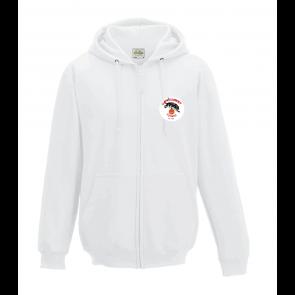 Veste unie Blanc avec capuche logo coeur UST BASKET
