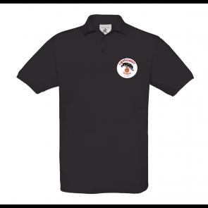Polo uni Noir logo coeur UST BASKET