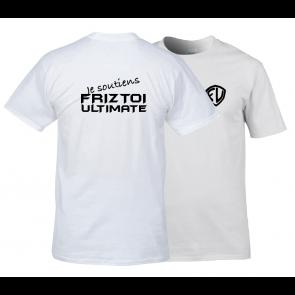 T-shirt Blanc design supporter FU