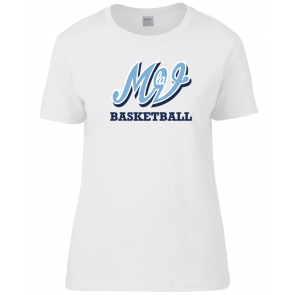 T-shirt Blanc Femme Family MLV Basket