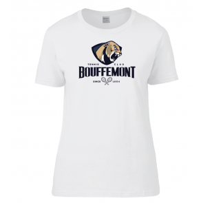T-shirt Blanc Coton Femme Bouffemont Tennis Club