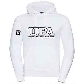 Sweat capuche Russell blanc UPA