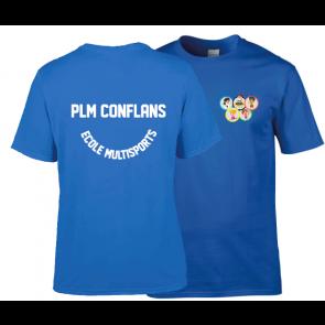 T-shirt coton unisexe royal PLM Conflans