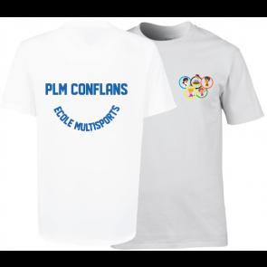 T-shirt coton unisexe blanc PLM Conflans