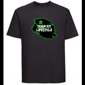 T-shirt Russell Noir Team Fit Lifestyle