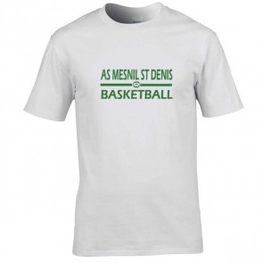T-shirt Blanc AMSD Basketball