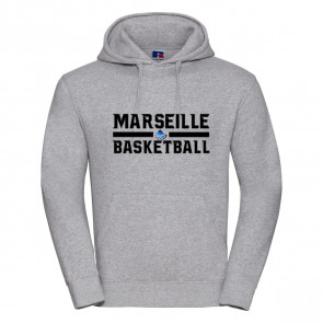 Sweat Russel Gris Marseille Basketball
