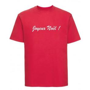 T-shirt Russell Message Joyeux noël personnalisé