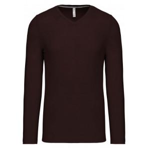 T-shirt manches longues Col V Kariban Unisexe