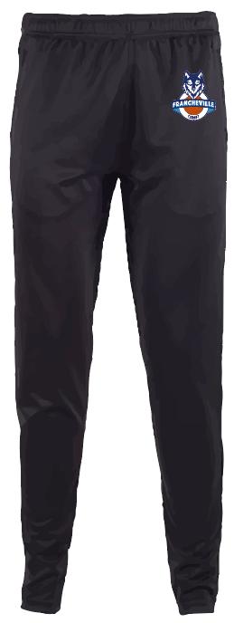 Jogging polyester noir Francheville