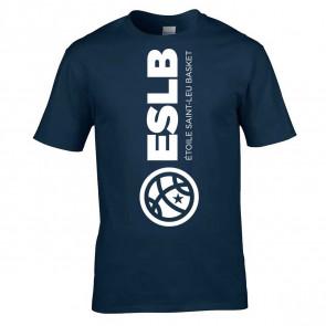 T-shirt Marine logo buste Saint-Leu