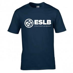 T-shirt Marine logo poitrine Saint-Leu