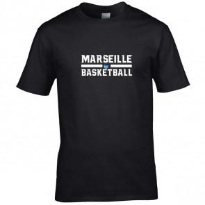 T-shirt Noir Marseille Basketball