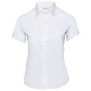 Chemise manches courtes sergé Russell Femme