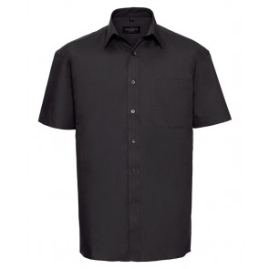 Chemise manches courtes popeline Russell Unisexe