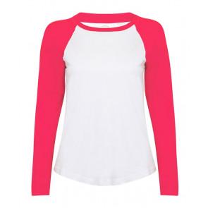 T-shirt manches longues contrasté Skinnifit Femme