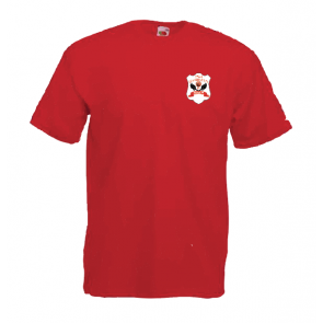 T-shirt manches courtes rouge coupe unisexe Arpajon