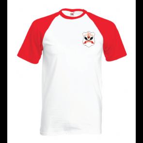 T-shirt contrasté rouge/blanc coupe unisexe Arpajon
